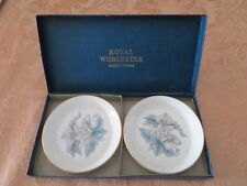 A Lot of 2 Vintage Royal Worcester Bone China Nut Dishes the Original Box