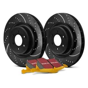 For Ford Mustang 15-18 Brake Kit EBC Stage 5 Super Street Dimpled & Slotted