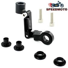 Black Motorcycle Brake Clutch Fluid Reservoir Master Cylinder Mount Bracket
