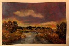 "Bika Tsaava's Original Painting ""Distant Haze"" Hand Signed by the Artist"
