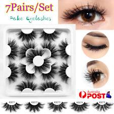 7 Pairs/set Natural Fake Lashes Set 3D Mixed Layered Long Soft False Eyelashes