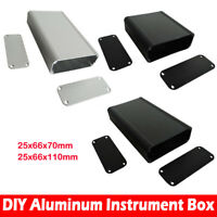 25x66x70mm/110mm Aluminum Project Box Enclosure Case Electronic Instrument Case