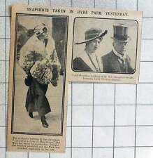 1915 Hyde Park Snapshots Lord Rosebery With Lady Victoria Stanley
