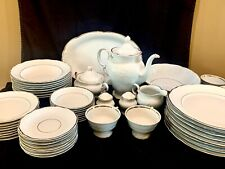 ROYAL KENT Poland China set 55 piece- white with gold banding