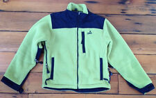 EMS Polartec Fleece Lime Green Black 100% Polyester Womens Jacket Coat XS 38""
