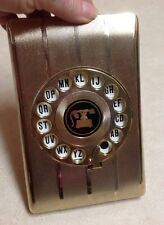 Vintage gold flip Phone Book address Dial-a-Name Telephone Index Directory