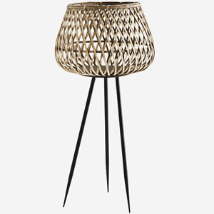 Bamboo Flower Pot on Stand Large by Madam Stoltz