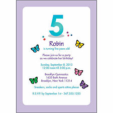 25 Personalized Childrens Birthday Party Invitations  5 Years Old  - BPK-03