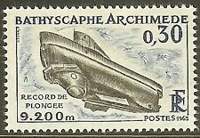 FRANCE TIMBRE NEUF N° 1368  **  RACORD DE PLONGEE ARCHIMEDE