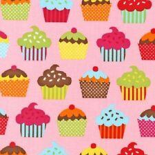 FQ Robert Kaufman confections, cupcakes, fairycakes 100% COTONE TESSUTO