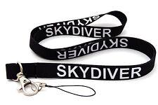 Skydiver Cordino Cinghia ID Cellulare Chiavi iPod MP3 titolare consegna gratuita