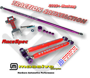 MSS Rear Kit Adj Lower + Upper Control Arms + Adjustable Panhard 05+ Mustang