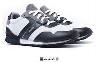 Hugo Boss Parkour Runn Mesh Mens Trainers Casual Footwear Sneakers Grey & White