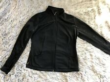 Lole Jacket Coat Essential Cardigan Large Black Track Athletic