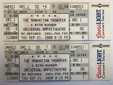 (2) The Manhattan Transfer & Rita Rudner 2000 Full Concert Tickets Jazz Comedy