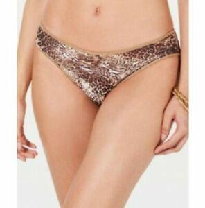 Becca by Rebecca Virtue Leopard Purfection Hipster Bikini Bottoms Brown XL, $58