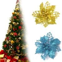 2020 NEW 1Pc Glitter Christmas Flower Tree Hanging U8C3 Decor Ornaments T6B1