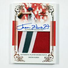 2013 Leaf Trinity Jumbo Patches Jason Hursh Auto 3-Color Jersey Card