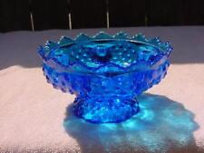 FENTON BLUE GLASS HOBNAIL CANDLE HOLDER