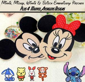 Marvel, Winnie, Stitch, Minnie & Mickey Embroidery Iron On / Sew On Patches
