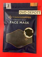 Tommie Copper Face Mask Unisex 2 Pack Copper & Zinc Infused (7289) Free Shiping