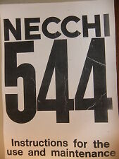 Instructions SEWING MACHINE NECCHI 544 - CD/email