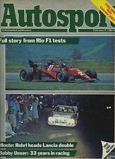 Autosport February 3rd 1983 *Monte Carlo Rally & F1 Testing at Rio*