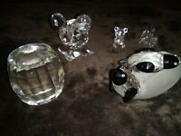 Collection Swarovski crystal figurines co
