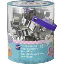 New listing Wilton Easter Metal Cookie Cutter Tub Set of 18 Pastry Cutters New Release~