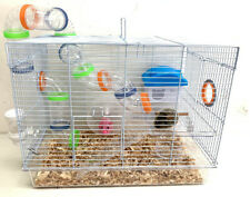 New listing 2-Floors Hamster Habitat Rodent Gerbil Mouse Mice Rats Animal Wire Clear Cage