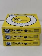 GE LIGHTING 42732 T9 Circular Bulb, 20W, Cool White New Lot Of 3