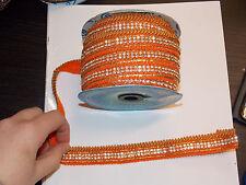 1m Naranja Diamonte Cristal para Decoración de Pasteles De Danza Boda Cinta de Malla de diamantes de imitación