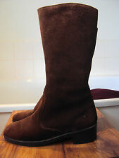Suede Boots 1970s Vintage Shoes for Women
