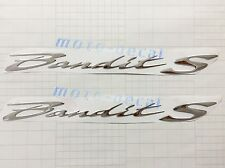 Raised 3D Chrome Suzuki Bandits GSF 400 650 1200 1250 Silver Emblem Decal Bling