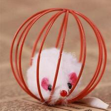 Pet Funny Fake Mouse in Cage Ball Cat Play Game Toy Cats Dogs Playing Toy CA