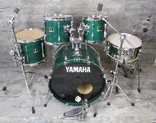 "Yamaha Stage Custom 22"", 10"", 12"", 14"", 14"" Snare Green tambores batería incl. HW"