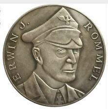 Piece WW2 Guerre Allemagne Germany Coin Erwin Rommel Afrikakorps War Coin