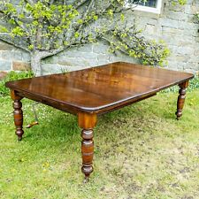 Victorian Mahogany 7' Large Extending Dining Table C1880