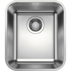 Blanco SINGLE BOWL UNDERMOUNT SINK 430x370x175mm Surgical Grade Stainless Steel