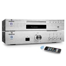 Juego Amplicador Reproductor Cd´s MP3 Blotooth Control Remoto Movíl Inalámbrico