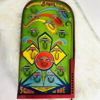Vintage Poosh Em Up 5 Game Streamliner Table Top Pinball Game