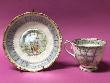 Royal Albert Silver Birch Cup and Saucer Multi Color England 1975 - 1997