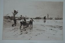 PERCY ROBERTSON ORIGINAL ETCHING GREAT YARMOUTH 1894