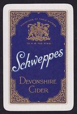 1 Single VINTAGE Swap/Playing Card ADV SCHWEPPES DEVONSHIRE CIDER Herringbone