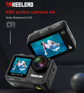 KEELEAD K80 Action Camera 4K 60FPS 20MP 2.0 Touch LCD EIS Dual Screen WiFiWebcaM