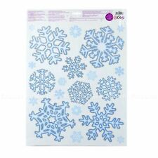 40 Snowflake Christmas Clings Window Wall Stickers Decorations Reusable Home
