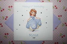 Handmade Personalised Sofia The First Birthday Card Any Age 1 2 3 4 5 6 7
