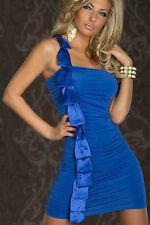 Abito ricamato fiocco raso nudo One-shoulder Mini Dress With Satin Salmon