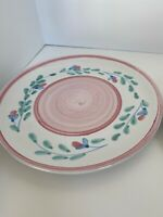 """Caleca Italian Hand Painted Plate 11"""" Pink Green, Blue  Garland 6 Available"""
