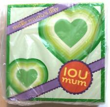 Make mums day IOU mum 30 favour cards celebrate Birthday, Mother's Day brand new
